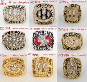 Top-San-Francisco-49ers-1994-1988-1984-2012-1981-1989-Super-Bowl-Championship-font-b-Ring