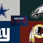 NFC East injury list
