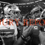 Week 16 Injury Report: Wednesday
