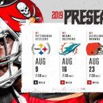 Buccaneers Preseason Opponent/Dates/Times