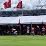 Wilson, Ellington, and Jones start practice returning kicks