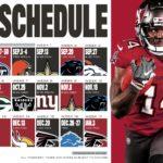 Buccaneers' Schedule Released