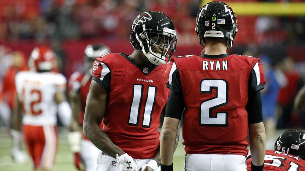 Julio Jones and Matt Ryan/Jason Getz/USA TODAY Sports