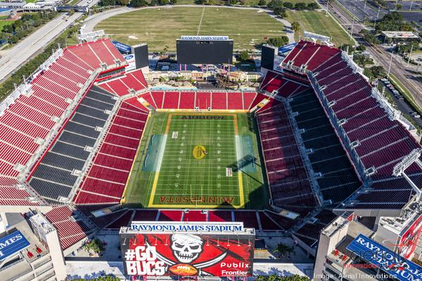 The Hillsborough Board of County Commissioners will vote on Wednesday whether to allocate the funds to the Tampa Sports Authority to complete modifications to Raymond James Stadium. AERIAL INNOVATIONS