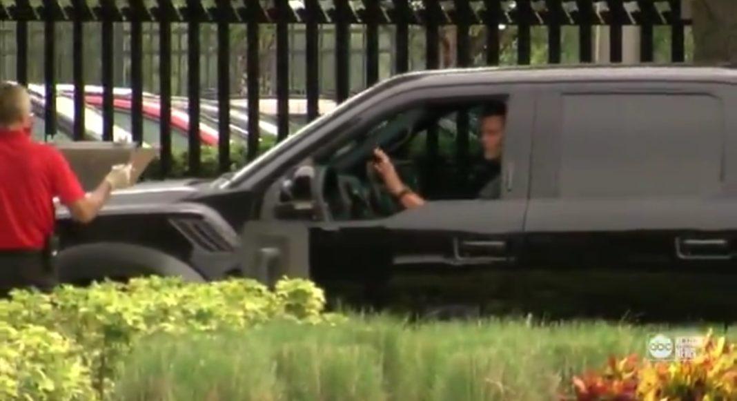 Tom Brady Arrives/via Kyle Burger ABC Action News