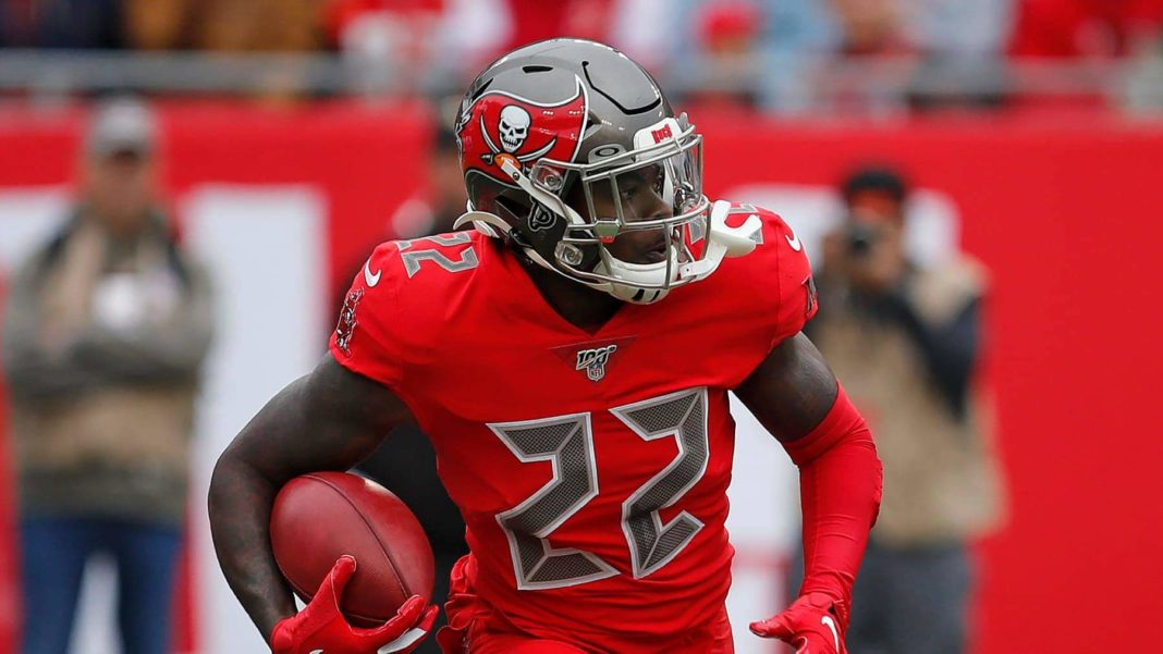 Tampa Bay Buccaneers running back T.J. Logan (22) runs against the New Orleans Saints during the first half of an NFL football game Sunday, Nov. 17, 2019, in Tampa, Fla. (AP Photo/Mark LoMoglio) [MARK LOMOGLIO | AP]