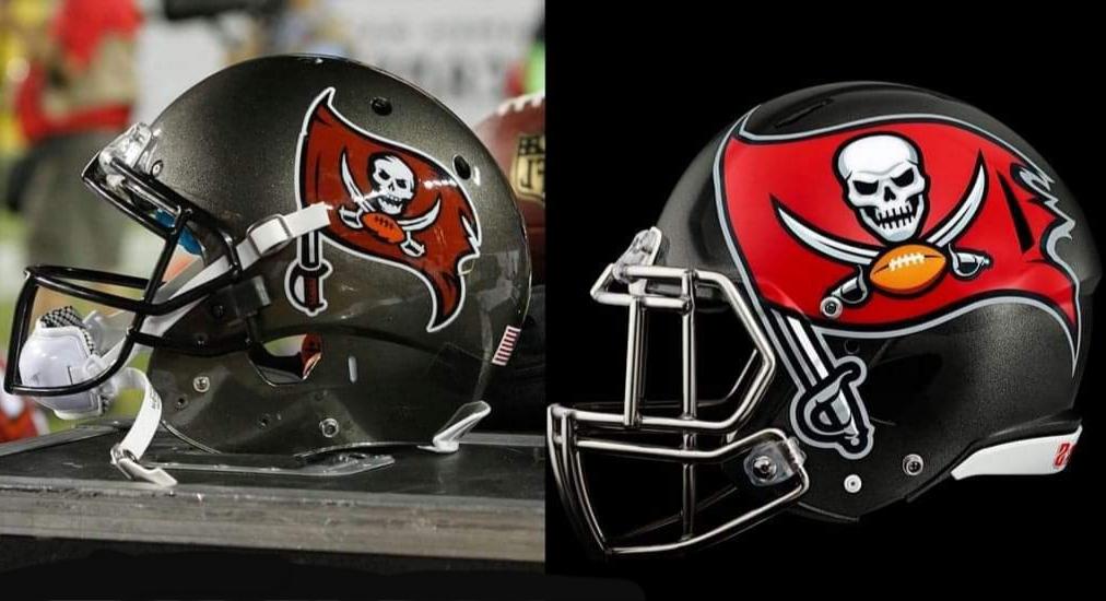 Buccaneers helmets/via USA Today