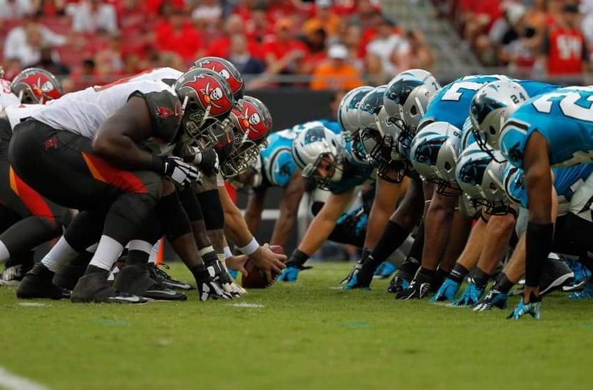 Buccaneers vs. Panthers/ via Kim Klement-USA TODAY