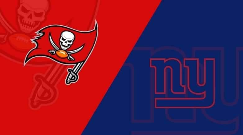 New York Giants vs. Tampa Bay Buccaneers/via lineups.com