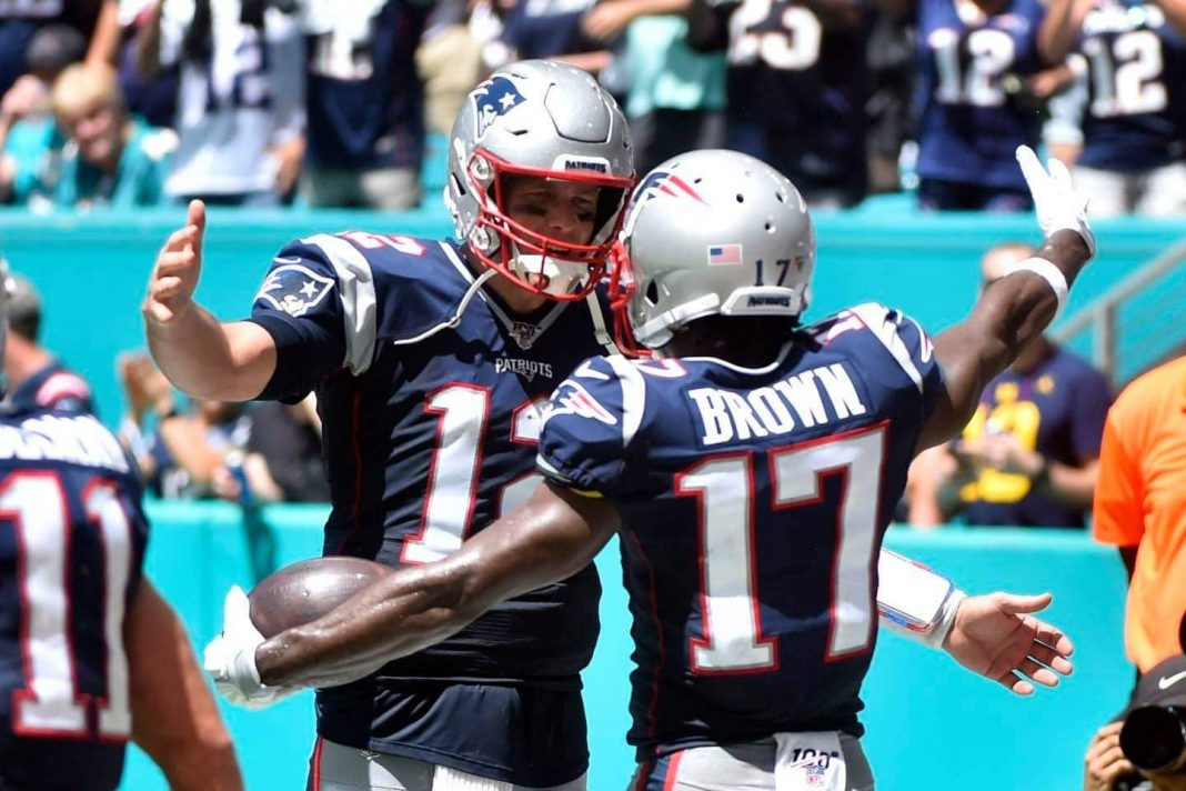 Antonio Brown and Tom Brady have been reunited in Tampa Bay/ Eric Espada Getty Images