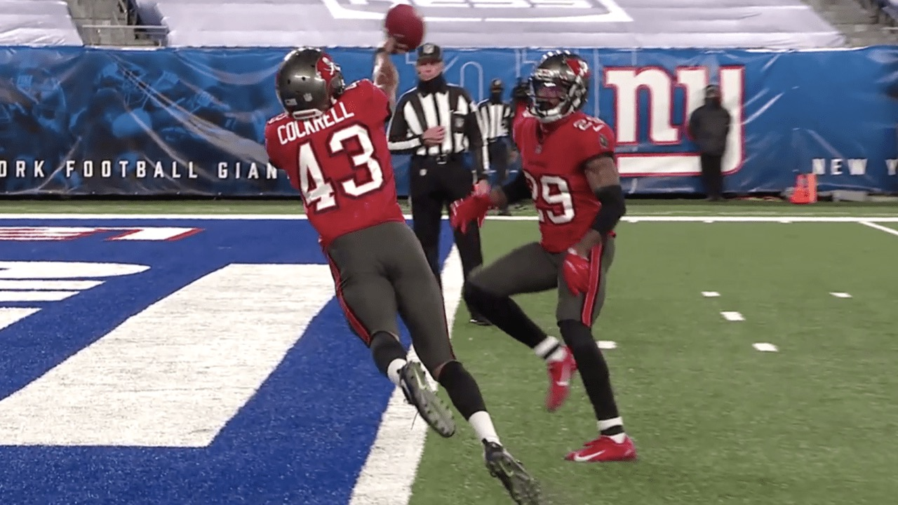 Buccaneers' Ross Cockrell and Ryan Smith/Via NFL.com