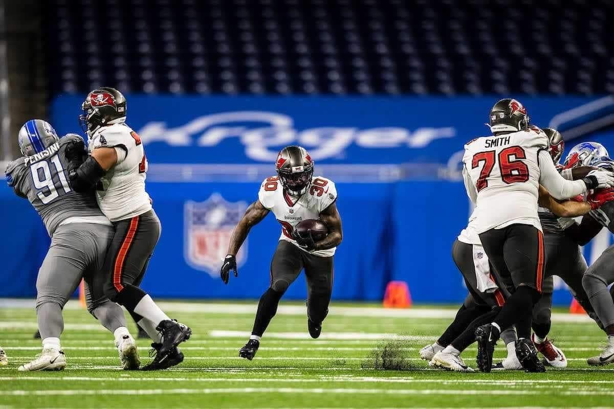 Tampa Bay Buccaneers running back Ke'Shawn Vaughn/via buccaneers.com