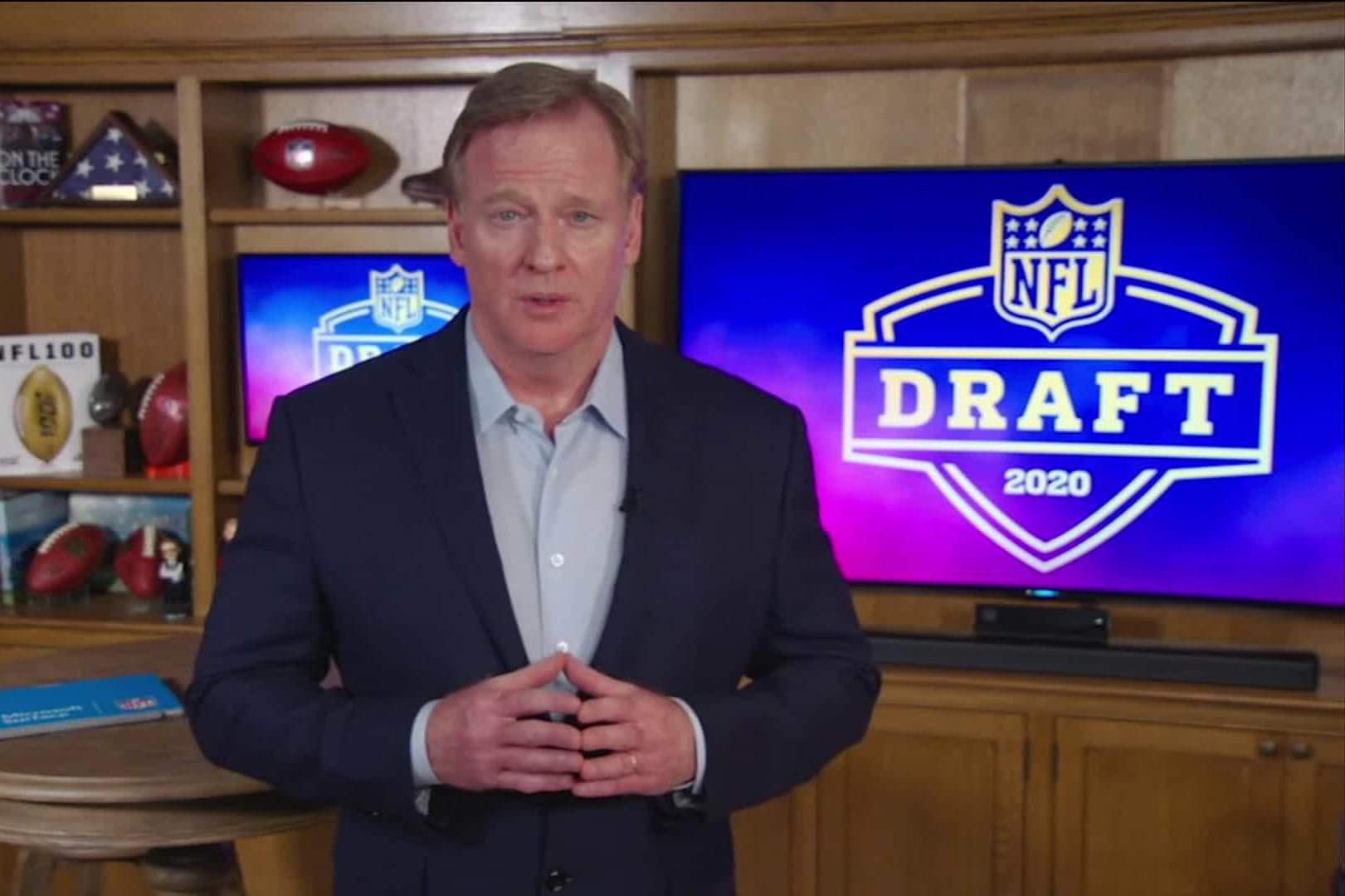 NFL Commissioner Roger Goodell/via Associated Press