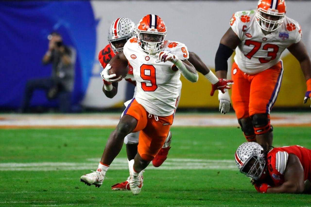 Clemson running back Travis Etienne, the Tigers' all-time leading rusher/ via SI.com