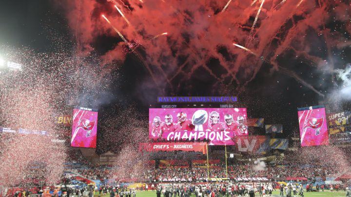 Raymond James Stadium shortly after the Tampa Bay Buccaneers Super Bowl LV victory/ via DPA VÍA EUROPA PRESS