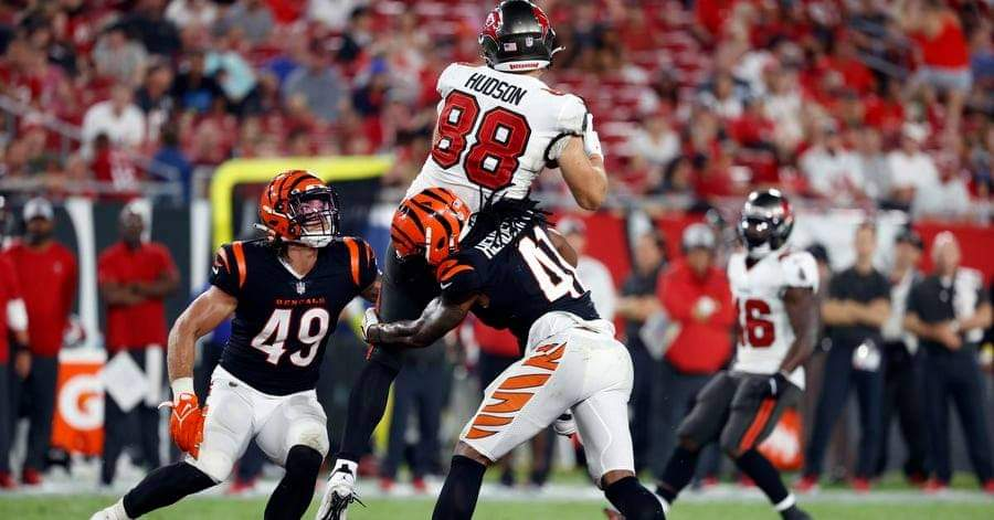 Buccaneers tight end Tanner Hudson/via USA Today
