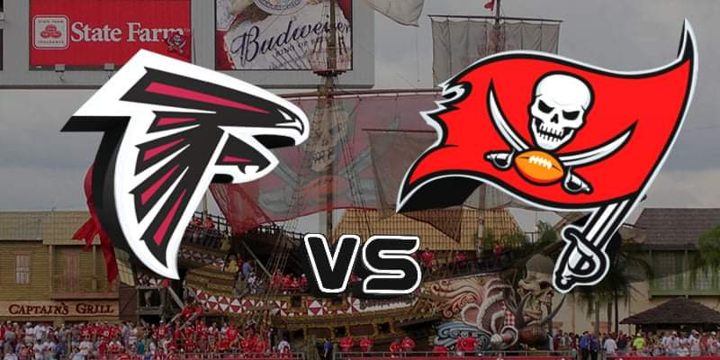 Atlanta Falcons vs Tampa Bay Buccaneers/via Sports Talk Florida